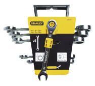 Набір Stanley 4-89-907 з 6-ти комбінованих гайкових ключів з храповим механізмом Gear Wrench з профілем Maxidrive Plus- фото