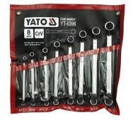 Набір ключів накидних зігнутих 8 шт. 6-22 мм. YATO YT-0396- фото