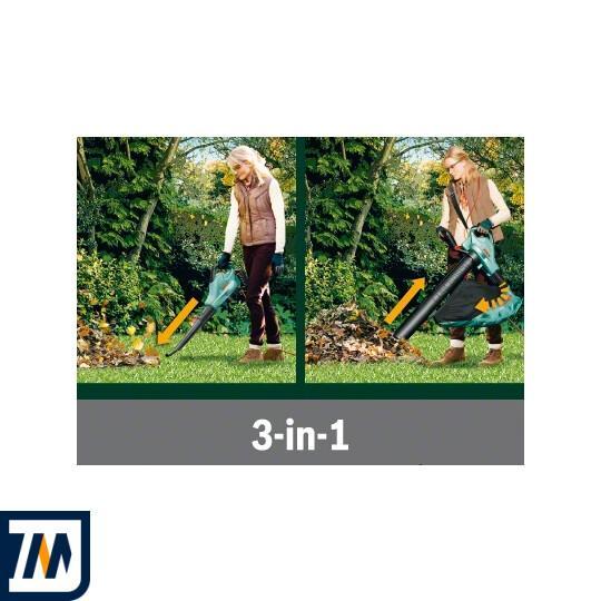 Садовий пилосос-повітродувка Bosch ALS 25 + Рукавички + Сумка - фото 5