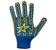 Перчатки DOLONI 587 трикотажные Звезда синие с ПВХ- фото