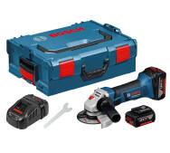 Аккумуляторная угловая шлифмашина Bosch GWS 18-125 V-LI L-BOXX- фото