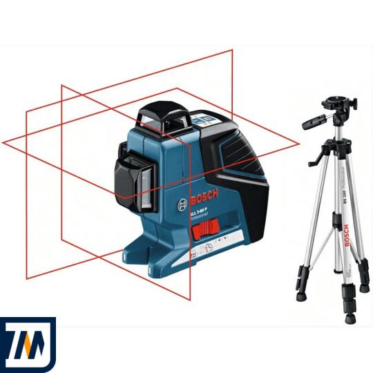 Лазерний нівелір Bosch GLL 3-80 P + BS 150 - фото 1
