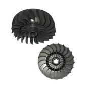 Вентилятор двигателя нового образца к бетономешалке Agrimotor 130, 155, 190 л - фото