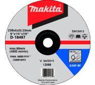 Шліфувальний диск Makita 230х6х22.2mm (D-18487)- фото