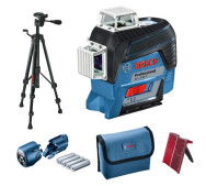 Линейный лазер Bosch GLL 3-80 C Professional + штатив BT 150- фото