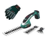 Аккумуляторний кущоріз Bosch ASB 10,8 Li Set + захисні рукавички- фото