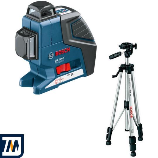 Лазерный нивелир Bosch GLL 2-80 P + BS 150 - фото 1