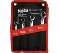 Набір розрізних ключів 4шт, 8-17мм. Yato YT-0143- фото