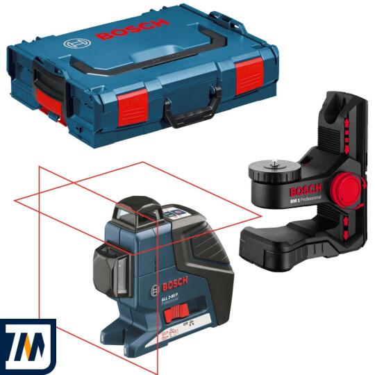 Лазерний нівелір Bosch GLL 2-80 P + BM1 L-BOXX - фото 1