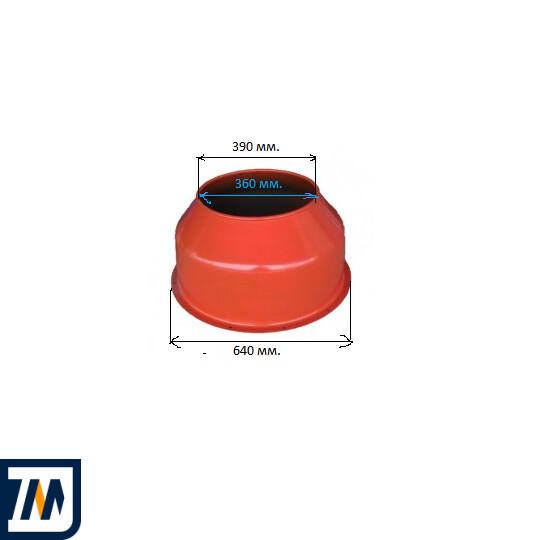 Верхняя крышка барабана к бетономешалке Agrimotor 130, 155 л  - фото 2