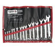 Набір ключів комбінованих 6-27мм, 15шт. Yato YT-0065- фото