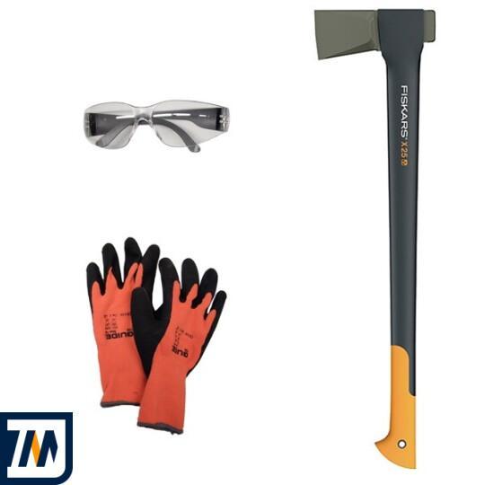 Сокира-колун X25 + рукавиці + захисні окуляри (129000) - фото 1