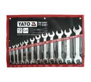 Набір ключів рожкових 6-32 мм.12шт. Yato YT-0381- фото