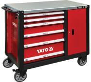 Шафа сервісна Yato  для інструментів на 6 шухляд з тумбочкою – сталева стільниця (YT-09002) - фото