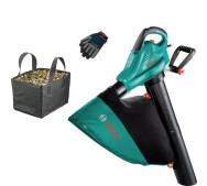 Садовый пылесос-воздуходувка Bosch ALS 25 + Перчатки + Сумка- фото