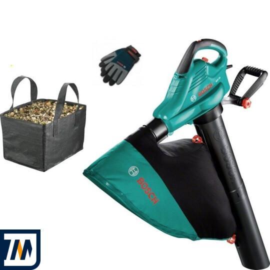 Садовий пилосос-повітродувка Bosch ALS 25 + Рукавички + Сумка - фото 1