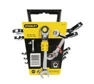 Набір Stanley 4-91-444 з 6-ти комбінованих гайкових ключів з храповим механізмом Gear Wrench з шарніром з профілем Maxidrive Plus- фото
