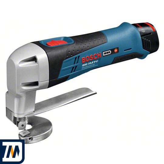 Акумуляторні ножиці по металу Bosch GSC 10,8 V-Li L-BOXX - фото 1