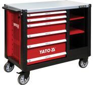 Шафа сервісна Yato  для інструментів на 6 шухляд – сталева стільниця (YT-09001)- фото