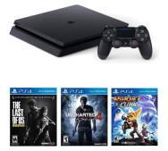 Ігрова приставка Sony Playstation 4 Slim (PS4 Slim) 1TB + Ratchet & Clank + The Last of Us + Unc- фото